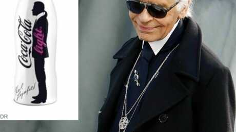 Karl Lagerfeld repense la bouteille de Coca Light