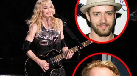 Madonna, Britney Spears, Justin Timberlake ensemble sur scène