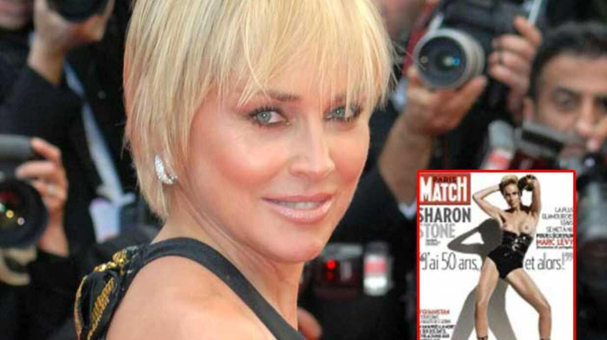 Sharon Stone pose seins nus en couverture de Paris Match