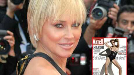 Sharon Stone pose seins nus en couverture de Paris Match