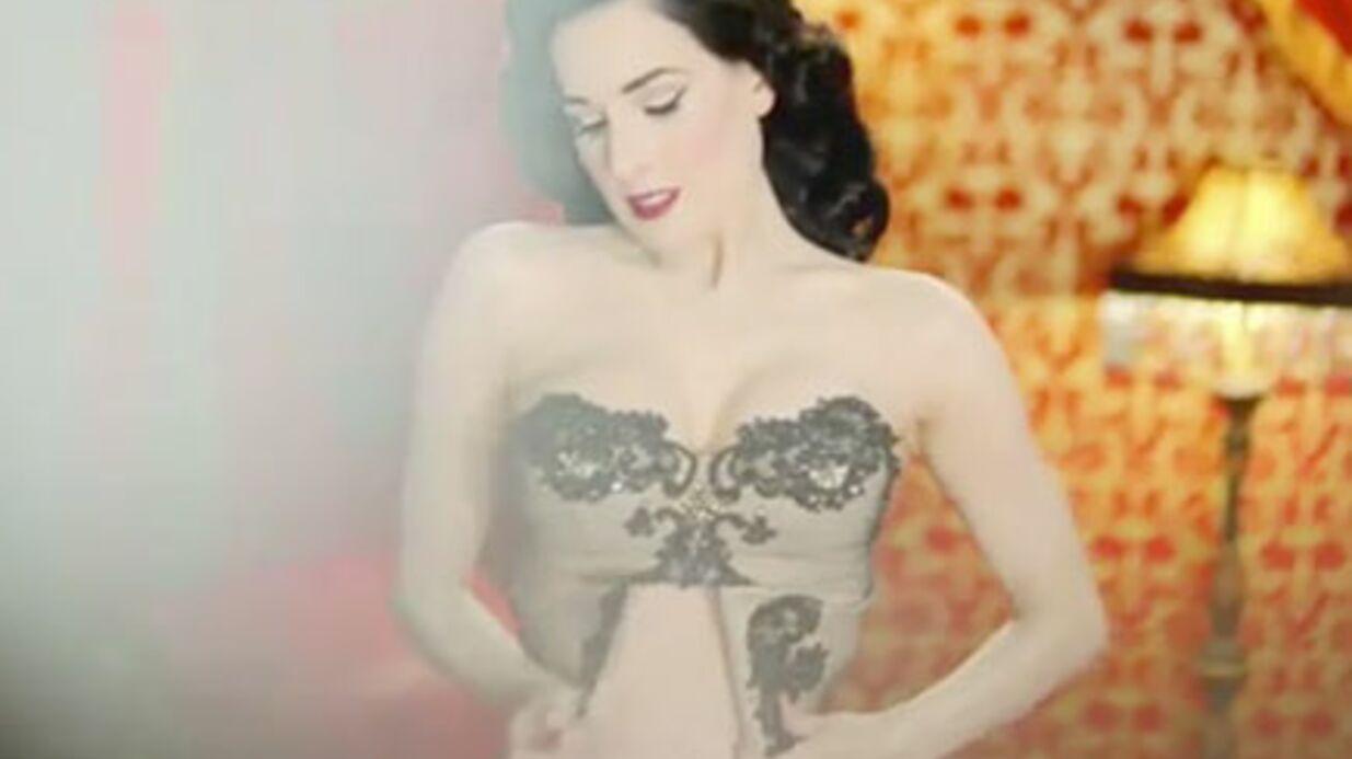 Censure du striptease de Dita Von Teese pour Thierry Henry