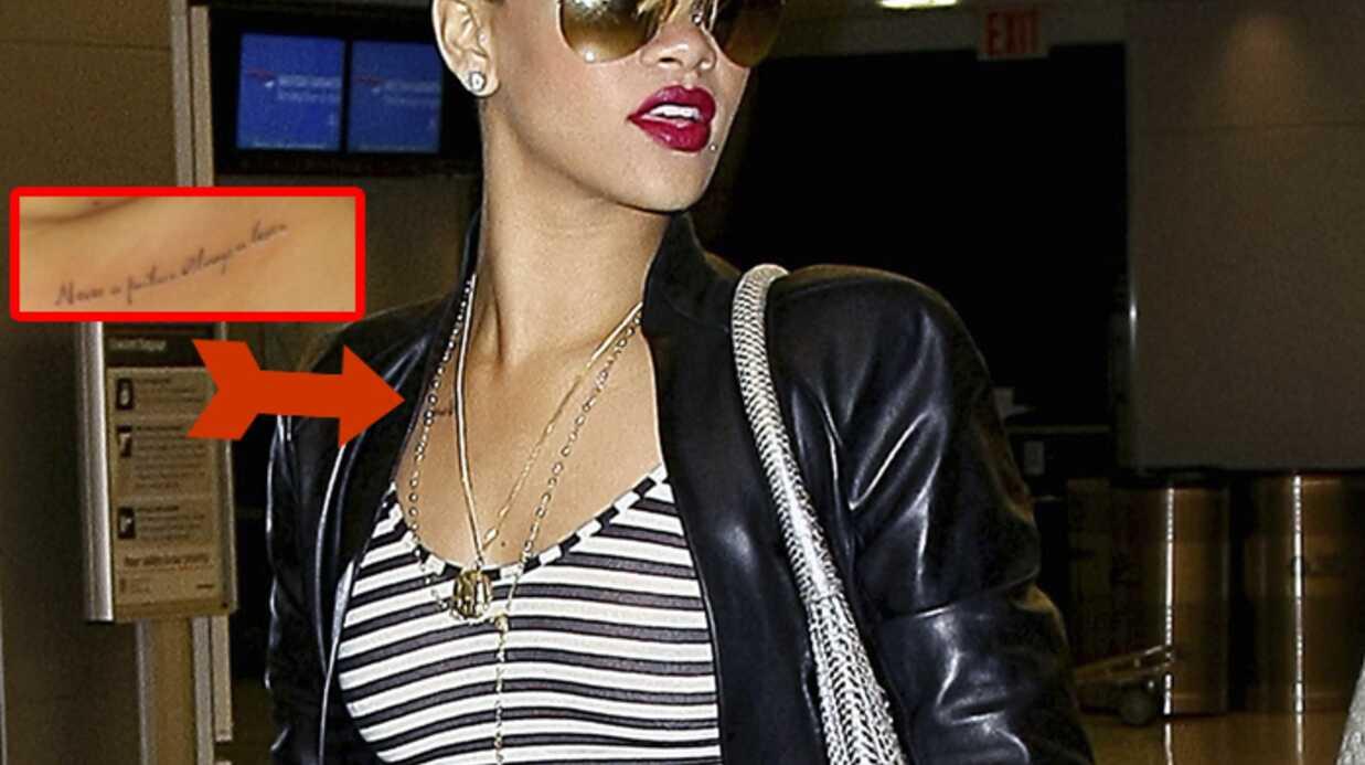 Rihanna: son nouveau tatouage fait allusion à Chris Brown