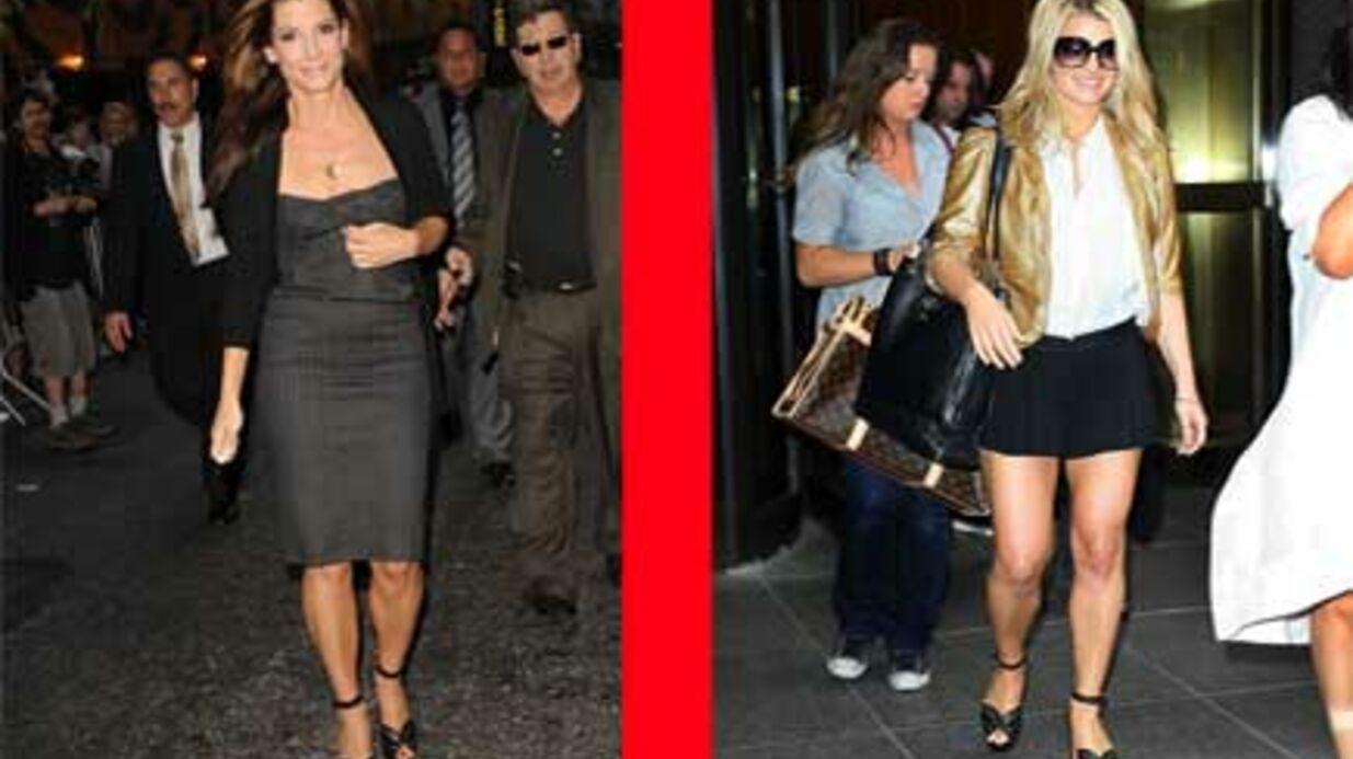 LOOK Sandra Bullock et Jessica Simpson fans de la même paire