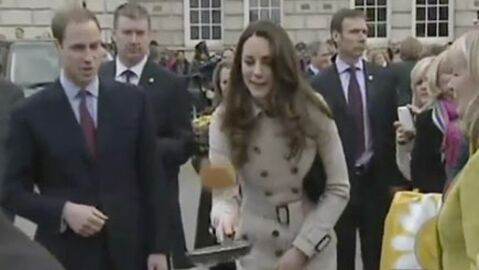 VIDEO Kate Middleton et le prince William se poêlent