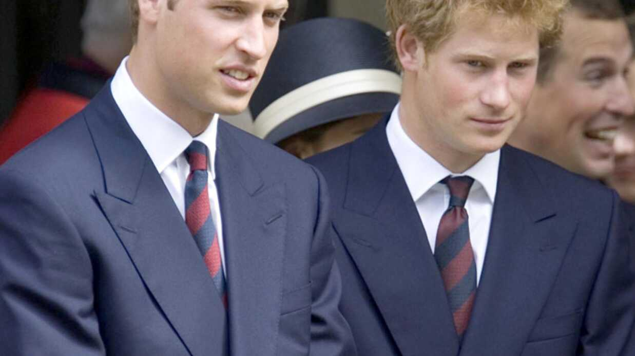 Les princes William et Harry dans un rallye moto
