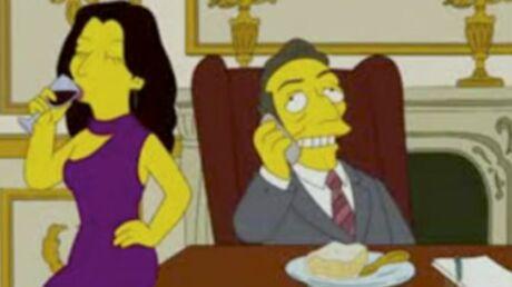 Nicolas Sarkozy et Carla Bruni dans les Simpson