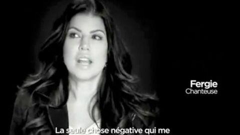 Fergie des Black Eyed Peas dans une pub pour France.fr