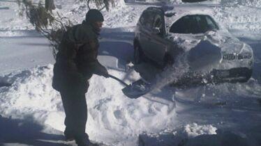 Chasse-neige du quartier