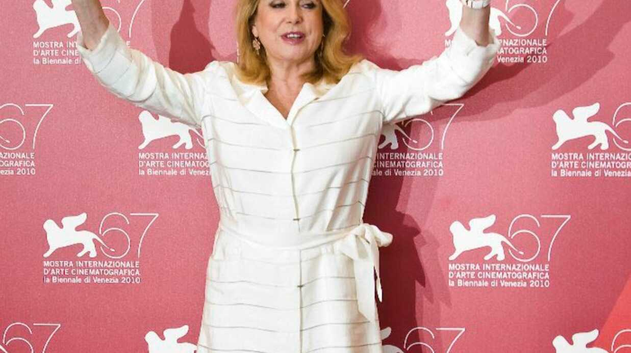 Catherine Deneuve est à la Mostra de Venise pour la projection de Potiche