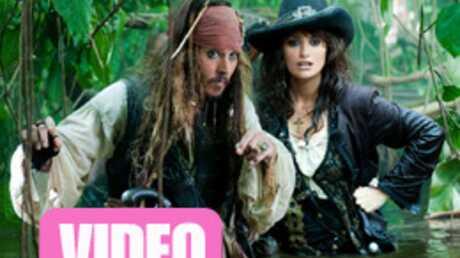 VIDEO Johnny Depp et Penélope Cruz dans Pirates des Caraïbes 4