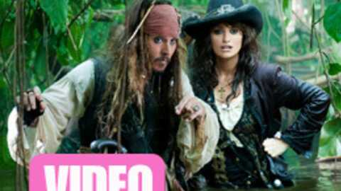 VIDEO Johnny Depp et Penélope Cruz dans Pirates des Caraïbes 4