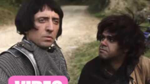 VIDEO Jamel Debbouze et Gad Elmaleh, drôles de chevaliers