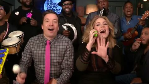 VIDEO Adele, Jimmy Fallon et The Roots reprennent Hello avec des instruments pour enfants