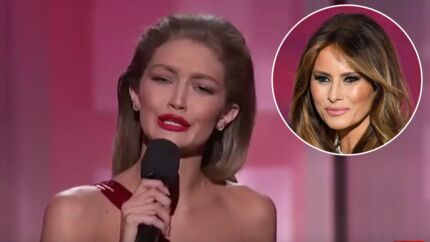 VIDEO Gigi Hadid : son imitation de Melania Trump aux AMA 2016 divise la toile