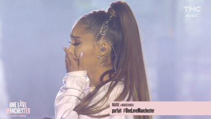 VIDEO Ariana Grande craque à la fin de son concert hommage à Manchester