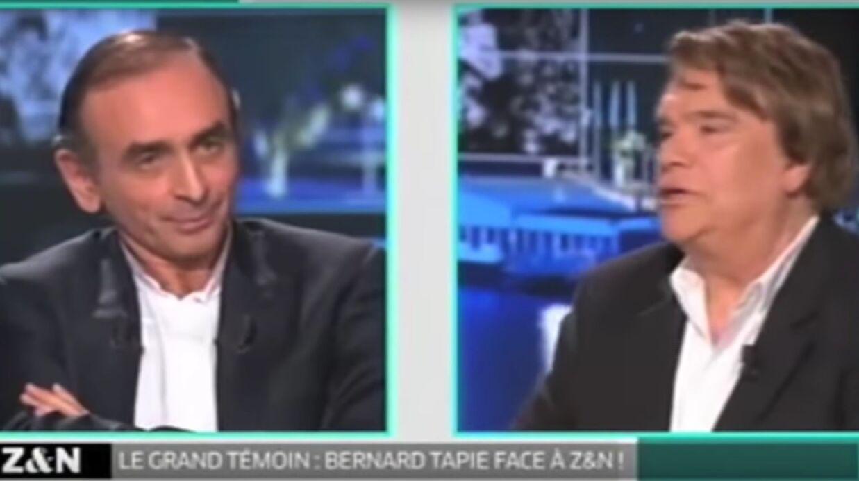 VIDEO Face à Eric Zemmour, Bernard Tapie menace de lui «en mettre une»