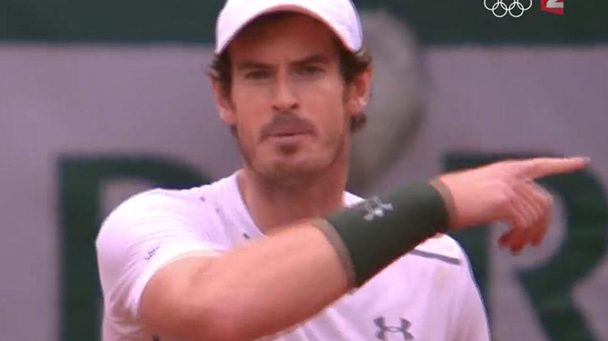 VIDEO Andy Murray s'en prend à Nelson Monfort en pleine finale de Roland Garros