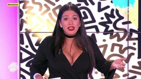 VIDEO Ayem Nour gênée par sa robe trop décolletée dans le Mad Mag