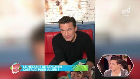 VIDEO Mad Mag: les encouragements de Benjamin Castaldi pour la première de son fils Julien