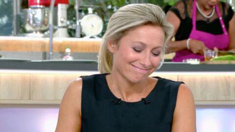 VIDEO C à vous: l'invitée d'Anne-Sophie Lapix lui signale qu'elle a de la nourriture coincée entre les dents
