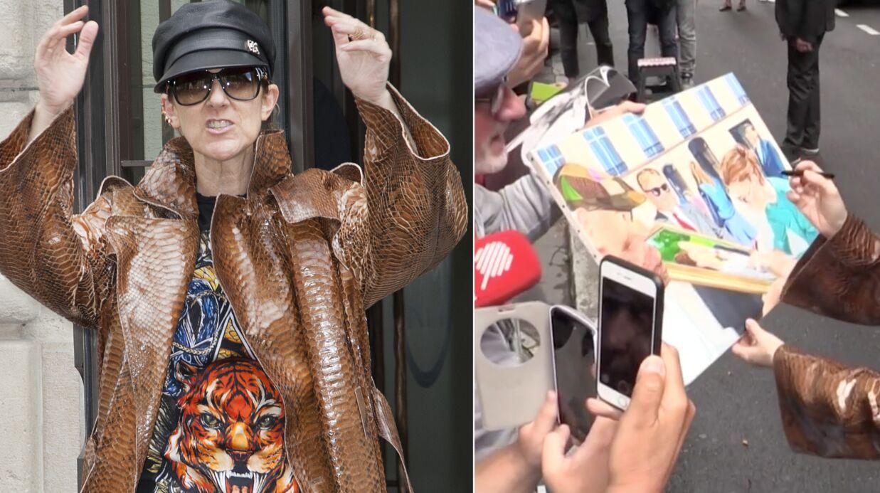 VIDEO Céline Dion dédicace un tableau où Céline Dion dédicace un tableau