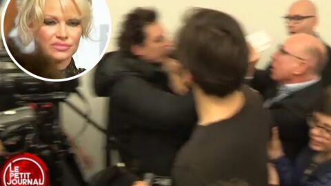 VIDEO Des journalistes se bagarrent pour Pamela Anderson à l'Assemblée Nationale