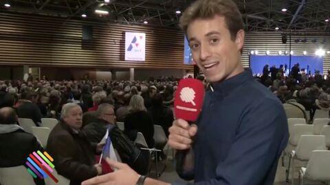 VIDEO Quotidien: un soutien de François Fillon tape sur un journaliste à coups de drapeau