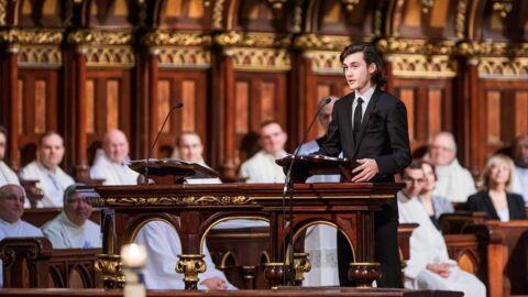 Obsèques de René Angélil: le vibrant discours de René-Charles émeut le monde entier
