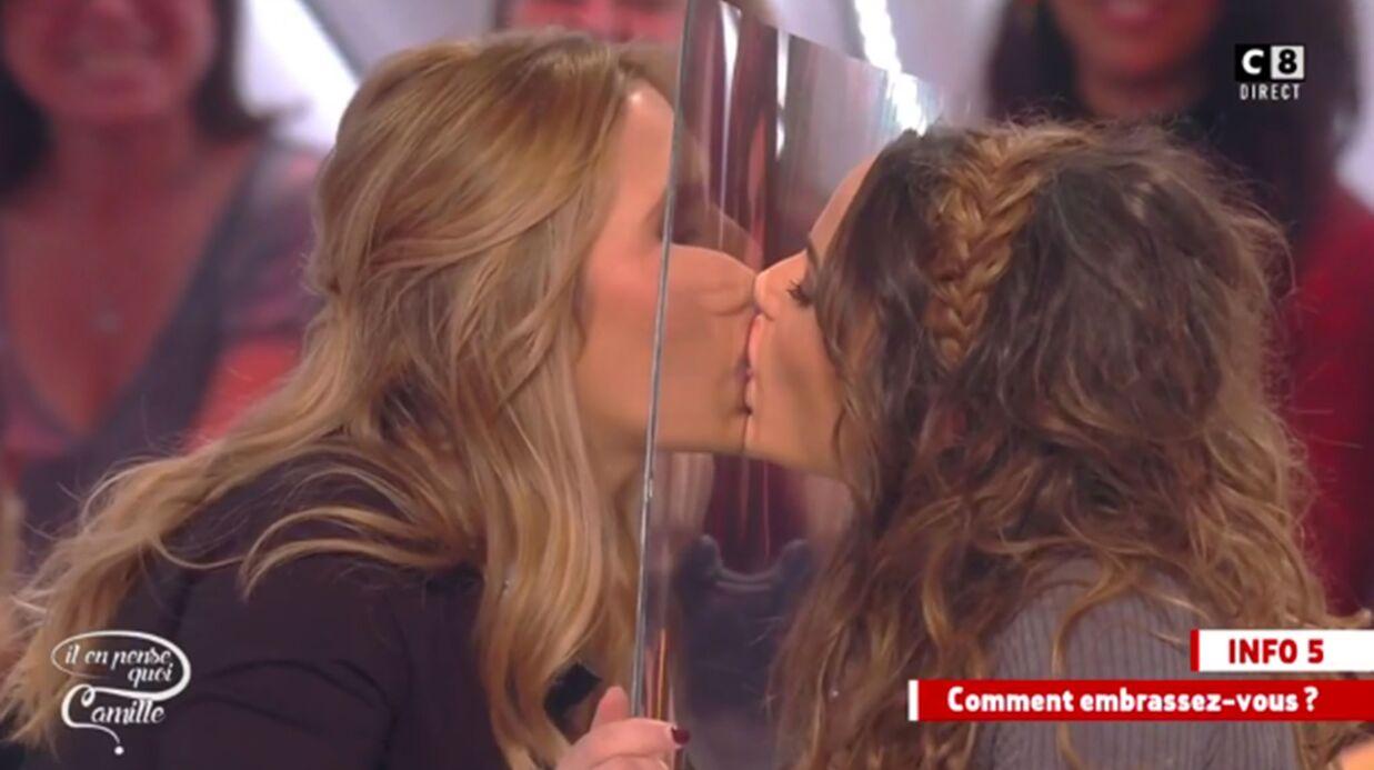 VIDEO Le baiser langoureux de Capucine Anav et Stéphanie Loire… à travers une vitre