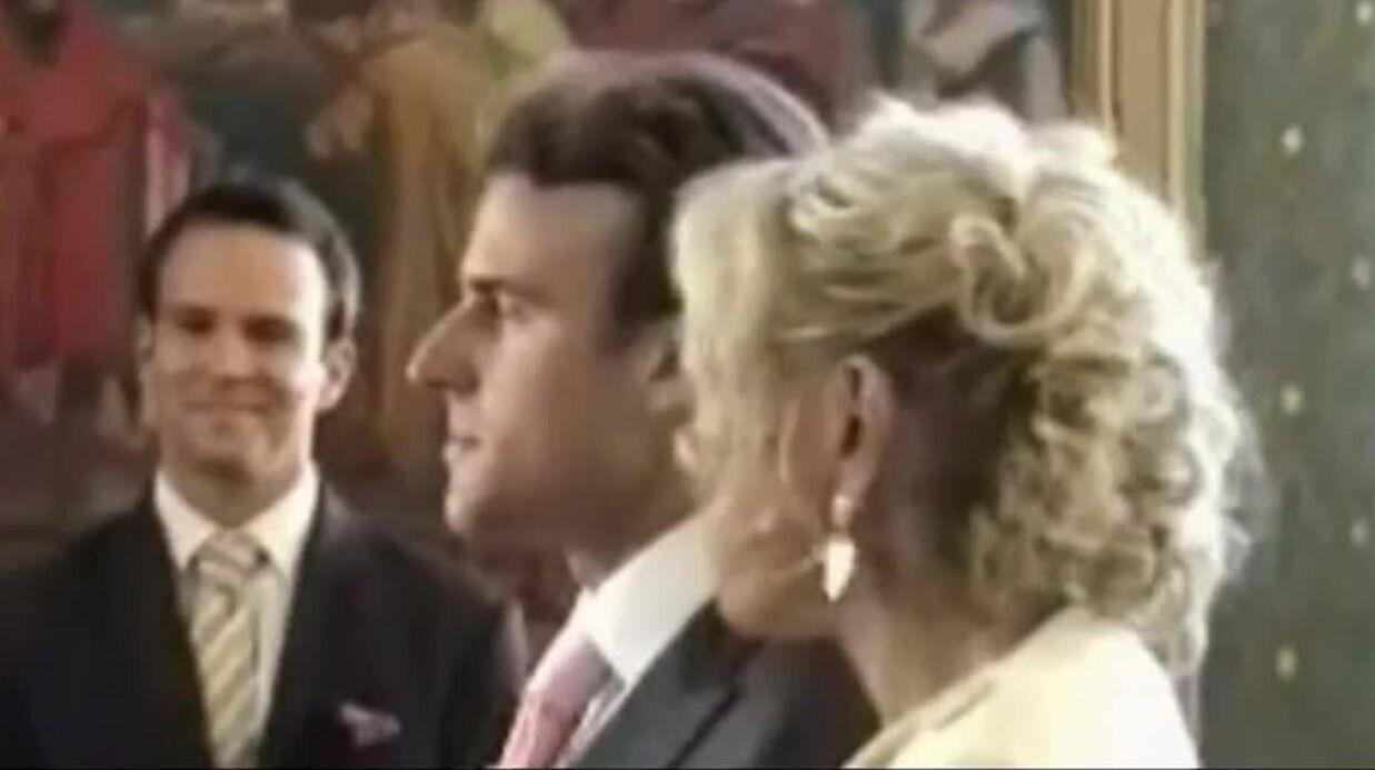 VIDEO Les images du mariage d'Emmanuel Macron avec Brigitte Trogneux, en mini robe blanche