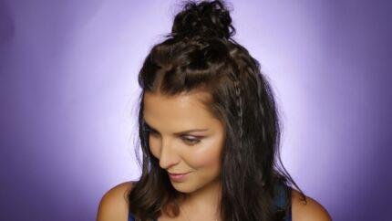 VIDEO Le tuto cheveux de Ludivine: le bun multi-tresses de l'été