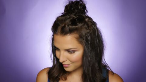 VIDEO Le tuto cheveux de Ludivine : le bun multi-tresses de l'été