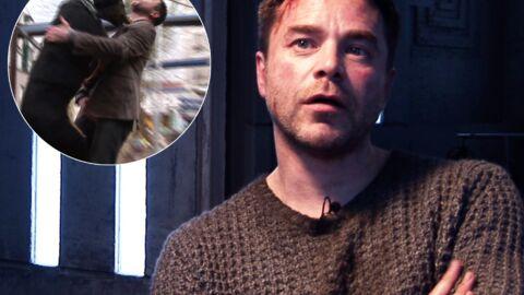 VIDEO Guillaume de Tonquédec malmené par un chien sur le tournage de SMS