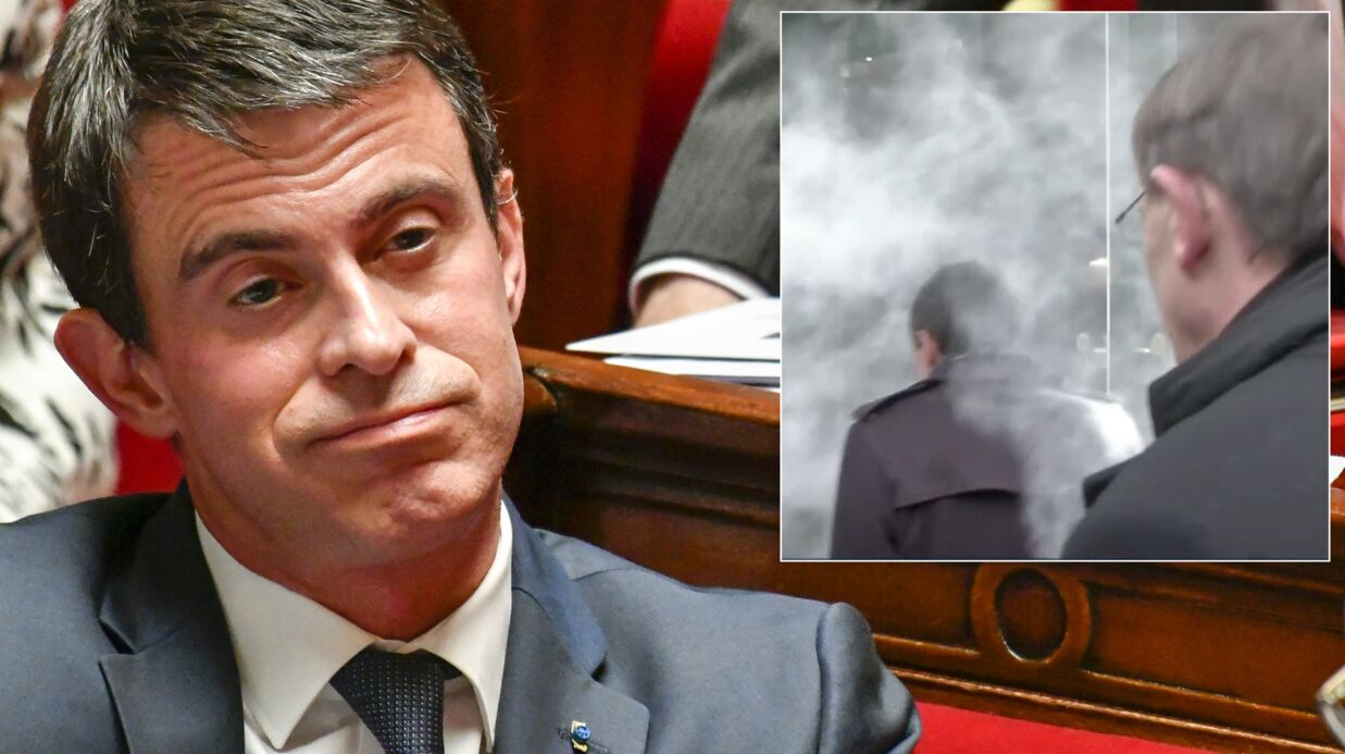 VIDEO Manuel Valls enfariné en pleine rue lors d'une visite à Strasbourg
