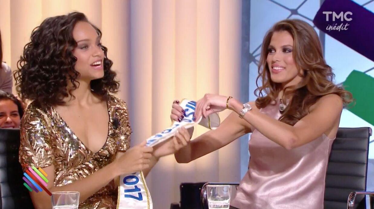 VIDEO Miss France 2017 retire son écharpe et se fait recadrer par Iris Mittenaere