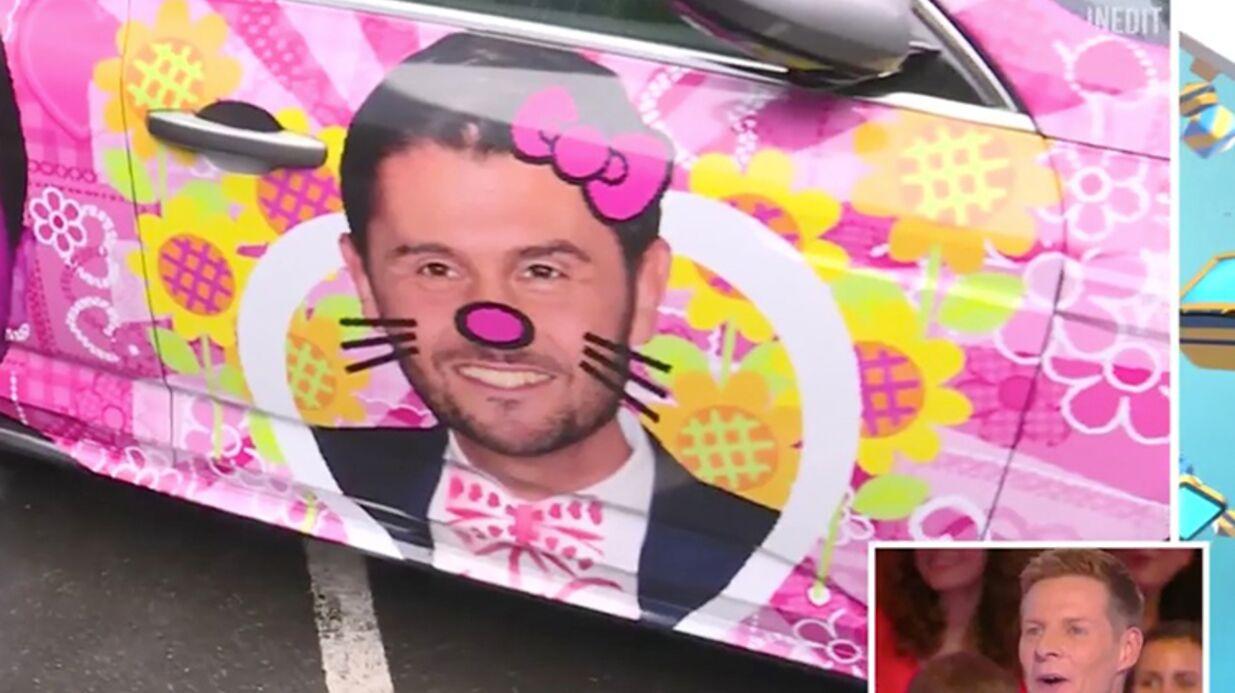 VIDEO Piégé, Matthieu Delormeau découvre sa voiture à l'effigie de son «rival», Christophe Beaugrand