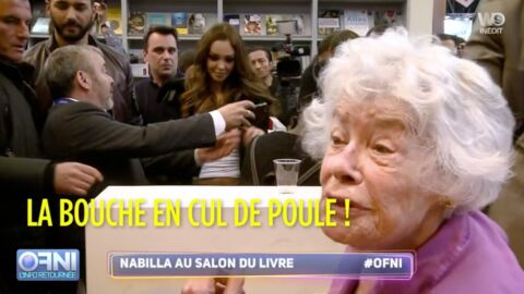 VIDEO Quand Claude Sarraute rencontre Nabilla au Salon du livre, ça balance!