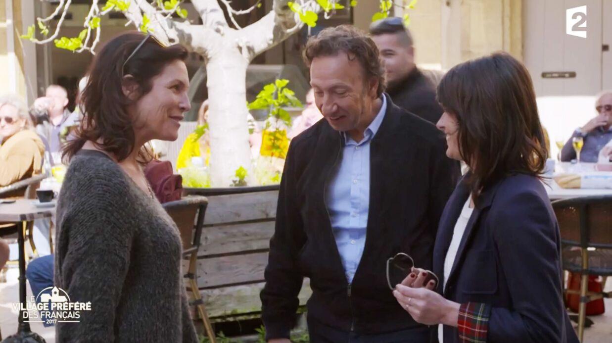 VIDEO Stéphane Bern croise par hasard Astrid Veillon sur le tournage du Plus beau village de France