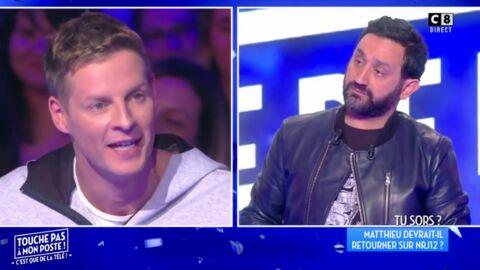 VIDEO Cyril Hanouna inquiet d'apprendre que Matthieu Delormeau négocie avec NRJ12