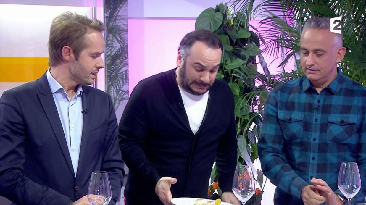 VIDEO Invité de C au programme, François-Xavier Demaison se brûle les doigts en direct