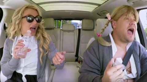VIDEO Carpool karaoké:  Britney Spears chante ses tubes avec James Corden, c'est trop drôle
