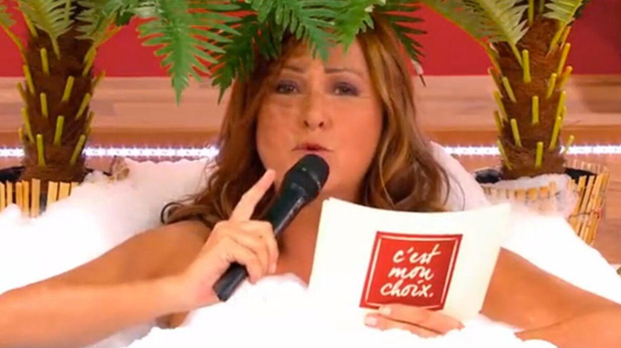 VIDEO C'est mon choix: Evelyne Thomas présente son émission nue dans une baignoire