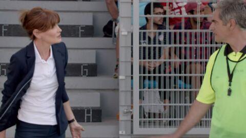 VIDEO Carla Bruni se reconvertit en coach de foot pour une publicité