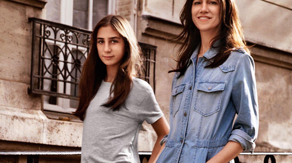 Video charlotte gainsbourg et sa fille alice attal posent - Comptoir des cotonniers mere et fille ...