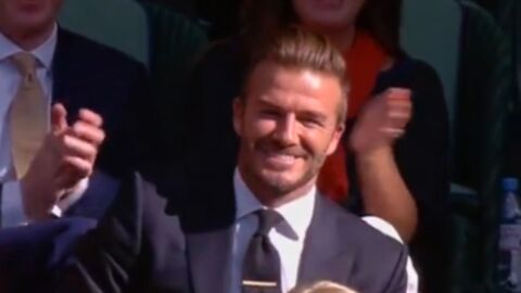 VIDEO David Beckham star involontaire de Wimbledon en arrêtant une balle au vol