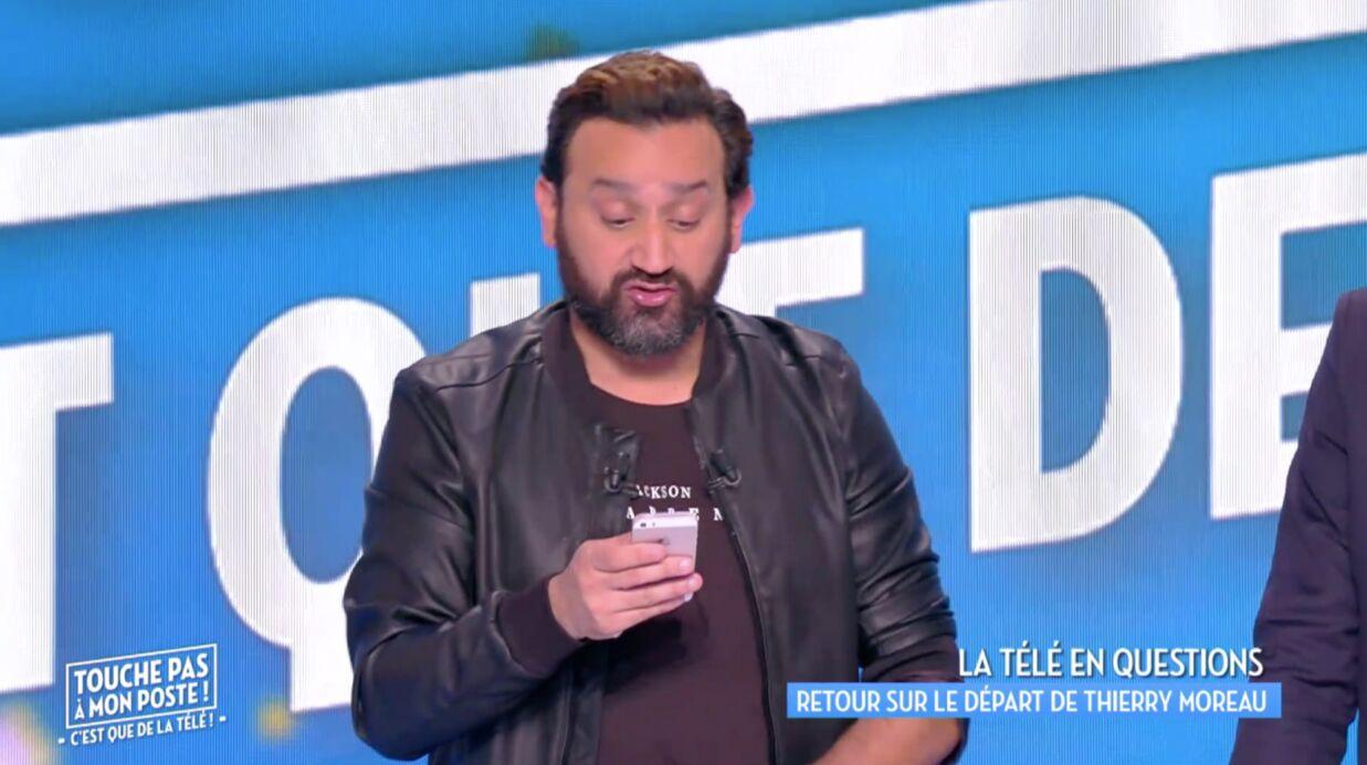 Départ surprise de Thierry Moreau: Cyril Hanouna dévoile un touchant SMS du chroniqueur