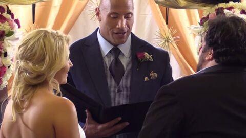VIDEO Dwayne Johnson se fait prêtre pour marier son meilleur ami