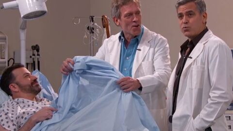 VIDEO George Clooney et Hugh Laurie : Dr House et Dr Ross au chevet de Jimmy Kimmel