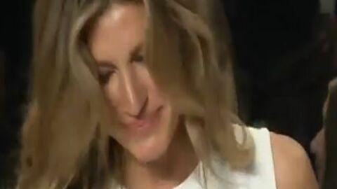 Gisele Bündchen en larmes pour son dernier défilé (VIDEO)