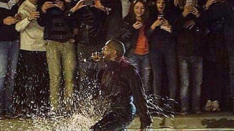VIDEO Kanye West saute dans un lac en Arménie lors d'un de ses concerts